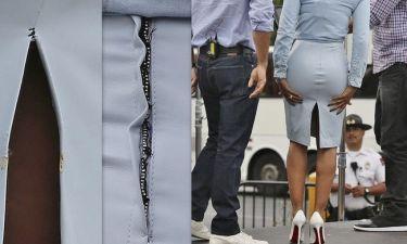 Τόσο στενή που ήταν η φούστα, ήταν αναπόφευκτο το ατύχημα!