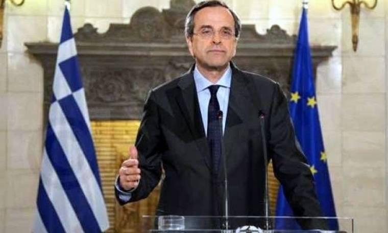 Εκλογές 2014: Στα κεντρικά γραφεία της ΝΔ ο κ. Αντώνης Σαμαράς