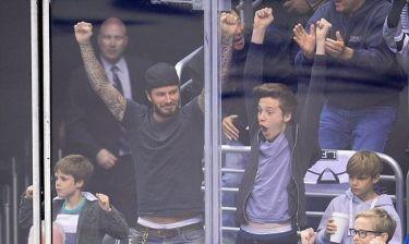 Όταν ο David Beckham πανηγυρίζει με τους γιους του στο γήπεδο