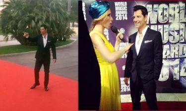 Ο Σάκης Ρουβάς στο κόκκινο χαλί των World Music Awards!