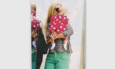 Το τρυφερό φιλί της Μπακοδήμου στην κόρη της…