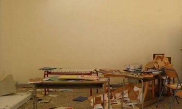 Εικόνες καταστροφής σε σχολείο στην Κόνιτσα