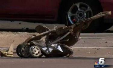Σοκ: Φορτηγό παρέσυρε καρότσι με μωρό! (pics)