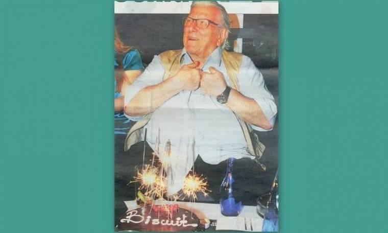 Η συγκίνηση του Βουτσά στα θεατρικά του γενέθλια