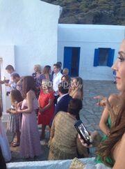 Κοκκίνου-Μπόγρης και Χρουσαλά-Πατίτσας στον γάμο Καμπούρη-Ταρασιάδη (φωτό)
