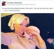 Η ερωτική εξομολόγηση του Κριστιάν στην Τζούλια στο facebook!