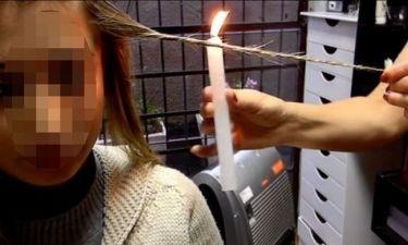 Γνωστό μοντέλο καίει τα μαλλιά της για να φύγει η ψαλίδα