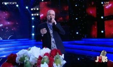 Τελικός «J2US»: Ο Σεφερλής τραγούδησε χωρίς την Καλλή