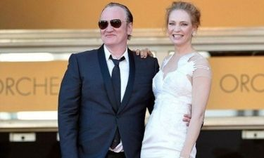 Δείτε το παθιασμένο φιλί της Uma Thurman στον Quentin Tarantino! Έχουν σχέση!