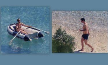 Η Κάτια τραβάει κουπί- Ο Σάκης στην παραλία