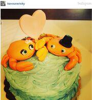 Δείτε την τούρτα που έφτιαξε η Κάβουρα για τα γενέθλια του Οικονομόπουλου!