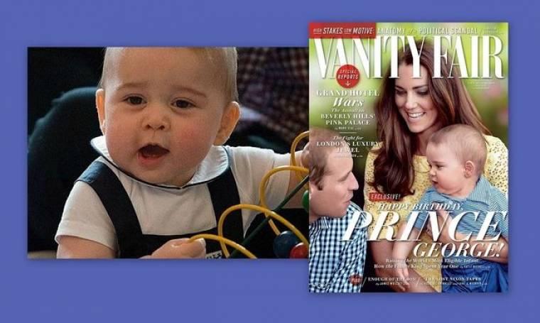 Πρίγκιπας  George: Το πρώτο του εξώφυλλο, ο  θηλασμός, τα ουρλιαχτά και το σπάσιμο του πρωτοκόλλου