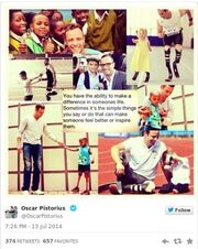 Ο Όσκαρ Πιστόριους και τα «παράξενα» μηνύματα του στο twitter