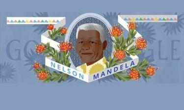 Νέλσον Μαντέλα: Η google τιμά τα 96α γενέθλια του μ' ένα doodle