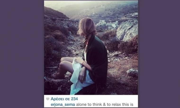 Τζένη Μπαλατσινού: «Μόνη να σκεφτώ και να χαλαρώσω»