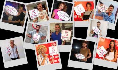 New entries στις ευχές των Celebrities για τα 5 χρόνια του Gossip-tv.gr