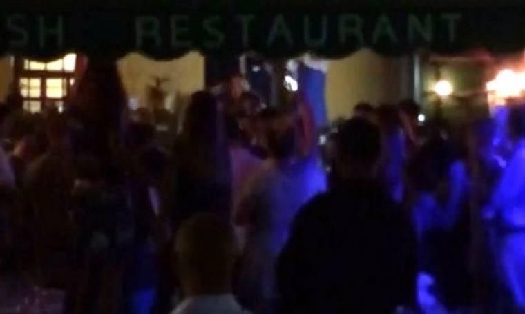 Video: Η Κατερίνα Ριμπολόβλεφ τα σπάει πάνω στα τραπέζια… (Nassos blog)