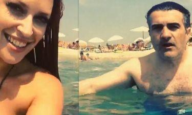 Τα selfie βίντεο Χρηστίδου-Σταματόπουλου στην παραλία