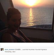 Σταματίνα Τσιμτσιλή: Χωρίς ίχνος μακιγιάζ ποζάρει μέσα σε καράβι!