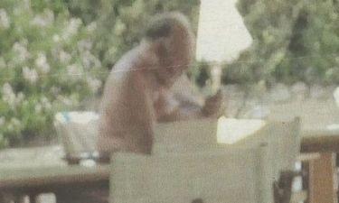 O Πάγκαλος με μούσι σε παραλία στο Λαγονήσι