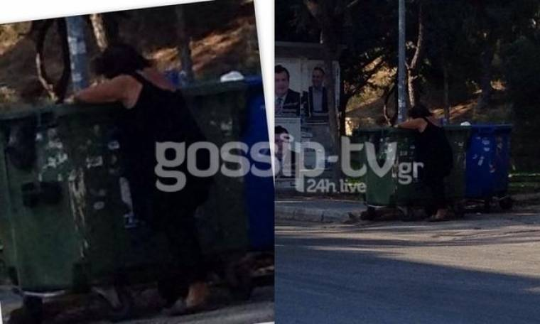 Εικόνα σοκ: Η Ρούλα Βροχοπούλου ψάχνει φαγητό στα σκουπίδια (Nassos blog)