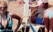 Κωνσταντίνα Σπυροπούλου: Το σιέλ μαγιό που… ξετρέλανε την παραλία
