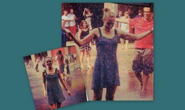 Η Μέριεμ Ουζερλί χορεύει στην βροχή