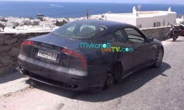 Απίστευτο! Εγκατέλειψαν Maserati στην Μύκονο!