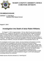 Robin Williams: Αυτό είναι το πιστοποιητικό του θανάτου του
