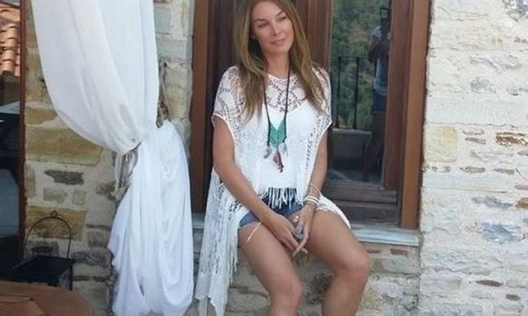 Η Τατιάνα Στεφανίδου στο σπίτι της μαμάς της