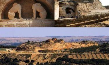 Αποκαλύφθηκαν εξ' ολοκλήρου οι Σφίγγες στην Αρχαία Αμφίπολη