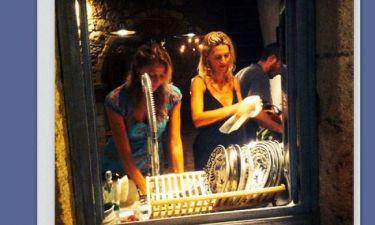 Τζένη Μπαλατσινού: Συνεχίζει τις διακοπές της στην Πάτμο