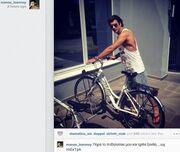 Μάνος Ιωάννου: Βόλτες με το ποδήλατο του στην Ξάνθη
