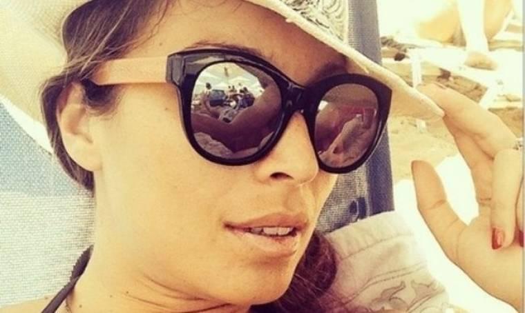 Μαριέττα Χρουσαλά: Στιγμές χαλάρωσης στην παραλία!