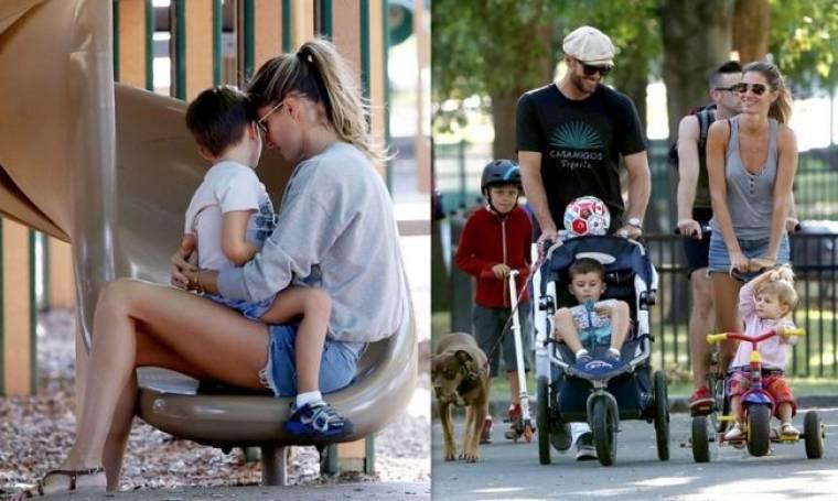 Gisele Bündchen: Με τον σύζυγο και τα παιδιά της σε παιδική χαρά
