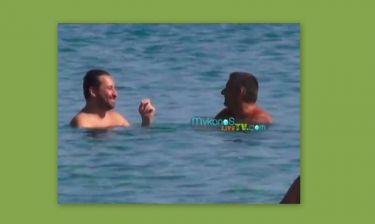 Γεωργαντάς- Λιάγκας: Μία ώρα μέσα στο νερό τι έλεγαν – Δείτε τους!