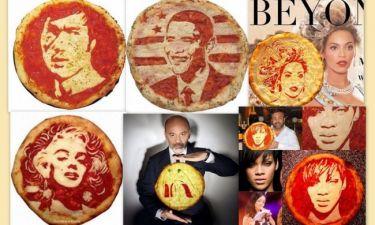 Όταν οι διάσημοι γίνονται… πίτσες