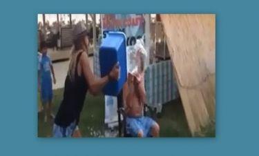 Προκάλεσε τον Ρόκκο σε «Ice bucket challenge» και η Αμαρυλλίς τον μπουγέλωσε