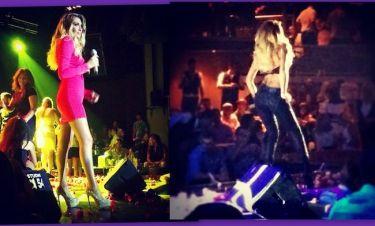 Η αποκαλυπτική εμφάνιση της Ηλιάδη: Το ροζ φόρεμα με το βαθύ ντεκολτέ και  το κολλητό παντελόνι