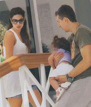 Διαμαντίδης- Χιώτη: Με την κόρη τους στο Πόρτο Χέλι