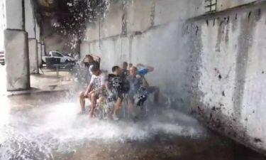 Σπαρτιάτες έκαναν «Ice Bucket Challenge» με 50 τόνους νερό!