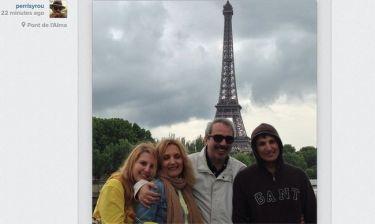 Βαγγέλης Περρής: Με την οικογένειά του στο Παρίσι
