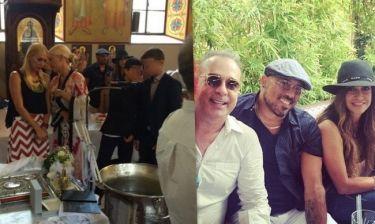 Φώτης Σεργουλόπουλος: Νέες φωτογραφίες από την βάπτιση του γιου του