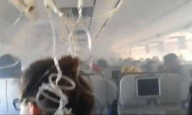 Βίντεο: Πανικός σε αεροπλάνο λόγω καπνού
