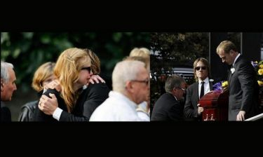 Συντετριμμένη η Kidman στην κηδεία του πατέρα της
