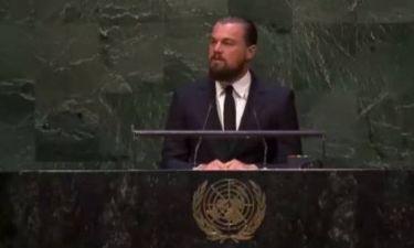 Η πρώτη ομιλία του Leonardo Dicaprio στον ΟΗΕ