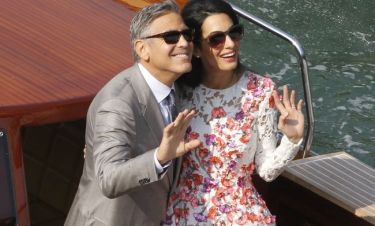 Clooney-Alamuddin: Οι νιόπαντροι έκαναν βόλτες στα κανάλια της Βενετίας