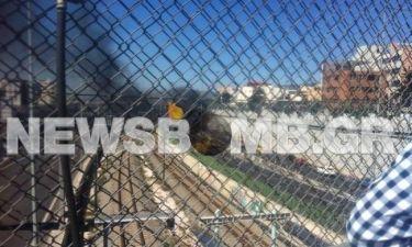 Φωτογραφία αναγνώστη από το φλεγόμενο φορτηγό στην Αττική Οδό