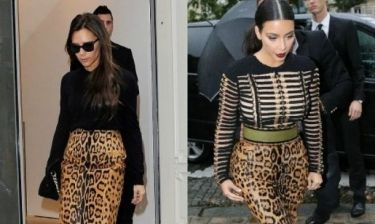 Victoria Beckham vs Kim Kardashian: Ποια φόρεσε καλύτερα τη λεοπάρ φούστα;