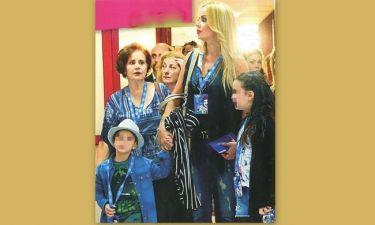 Ιωάννα Λίλη: Με την μαμά και τα παιδιά της στο τσίρκο
